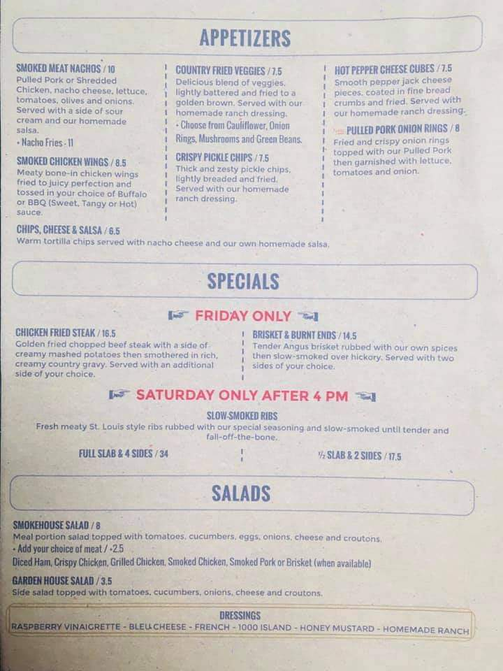 Appetizers and Specials